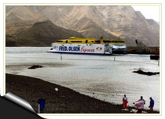 Abfahrt nach Santa Cruz de Tenerife