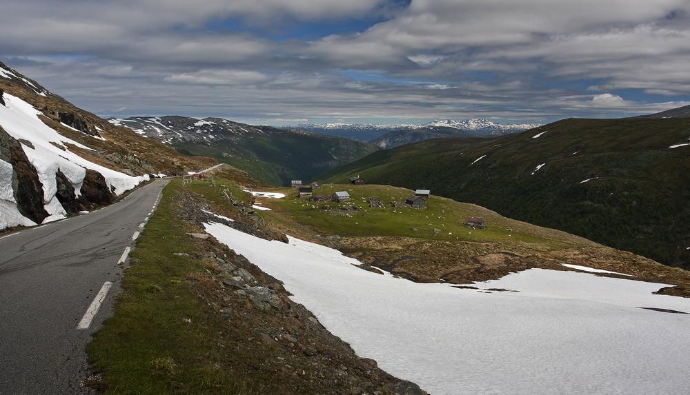 Abfahrt vom Fjell - Hochalm
