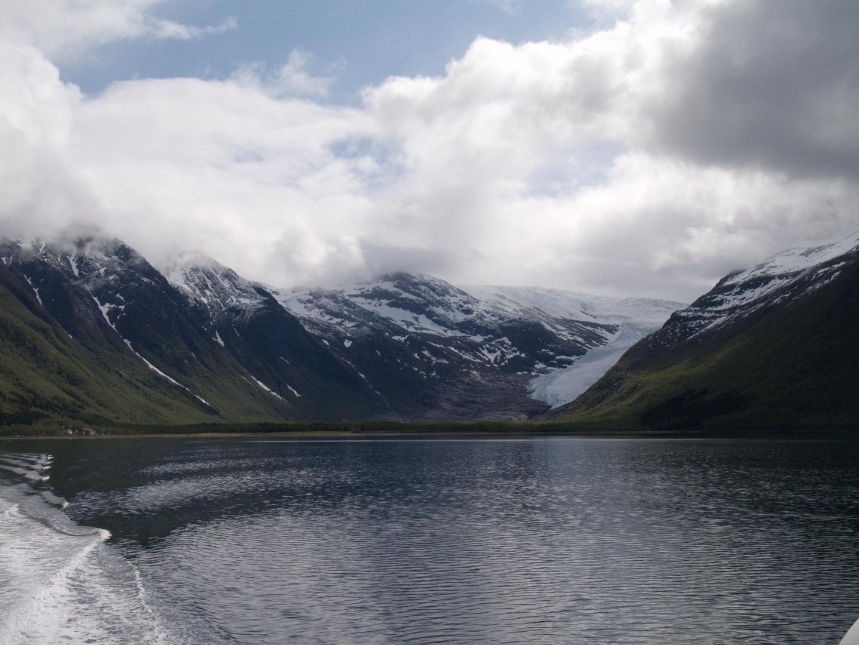 Abfahrt vom Svartison Gletscher