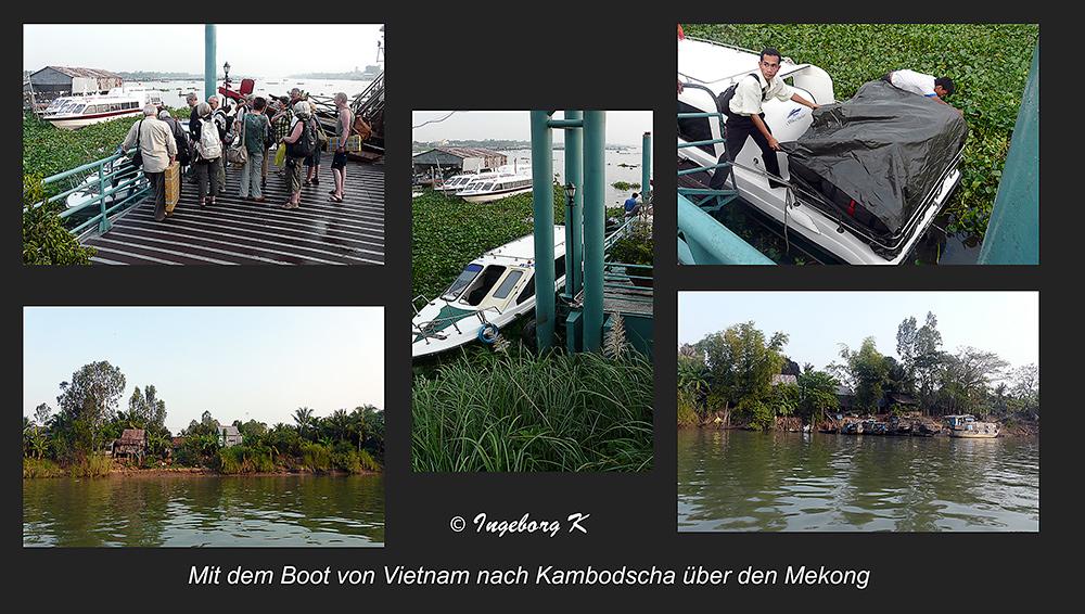 Abfahrt von Vietnam nach Kambodscha über den Mekong