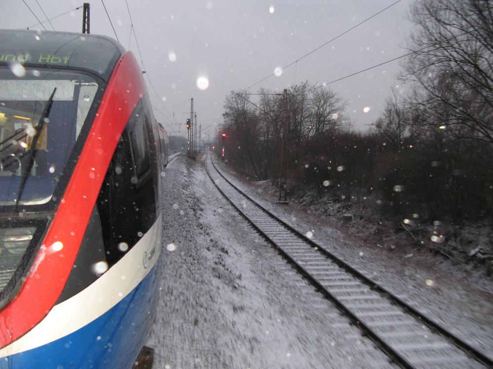 Abfahrt Zug 81694 in Lünen