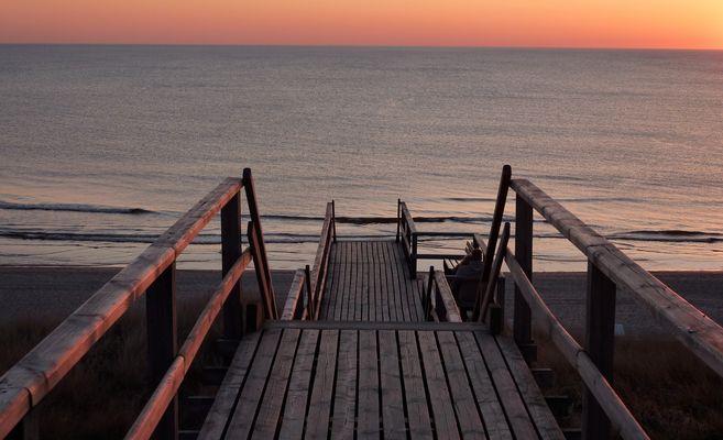 Abgang zur Abendsonne