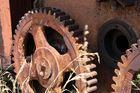 Abgegriffen - Mechanismus/Tor eines Bunkers