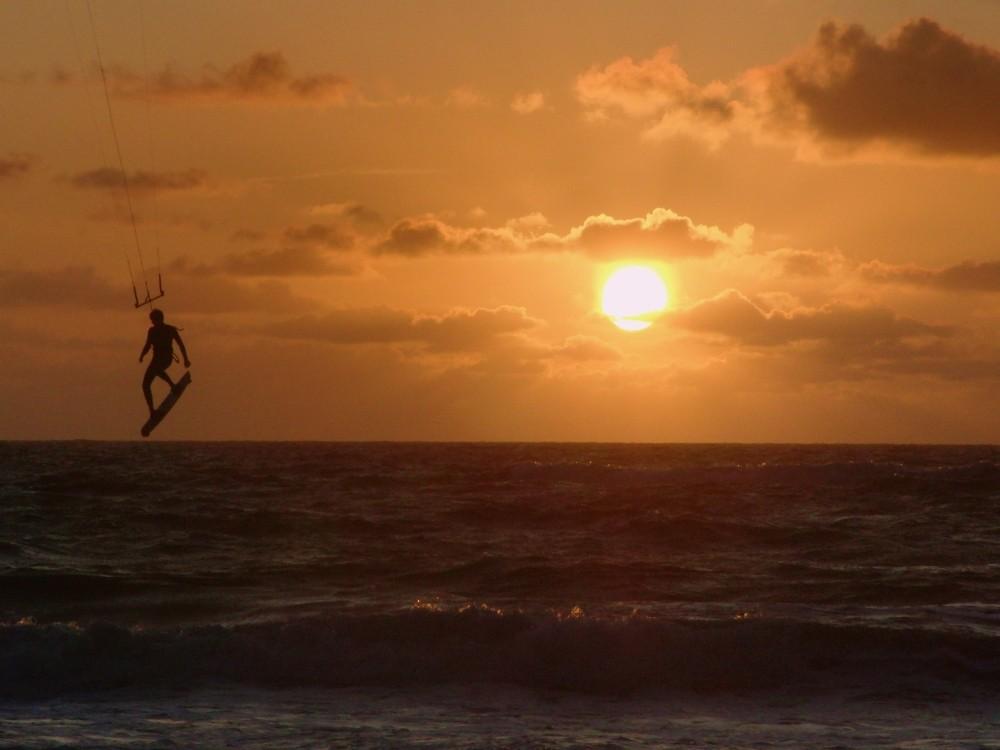 Abhängen im Sonnenuntergang