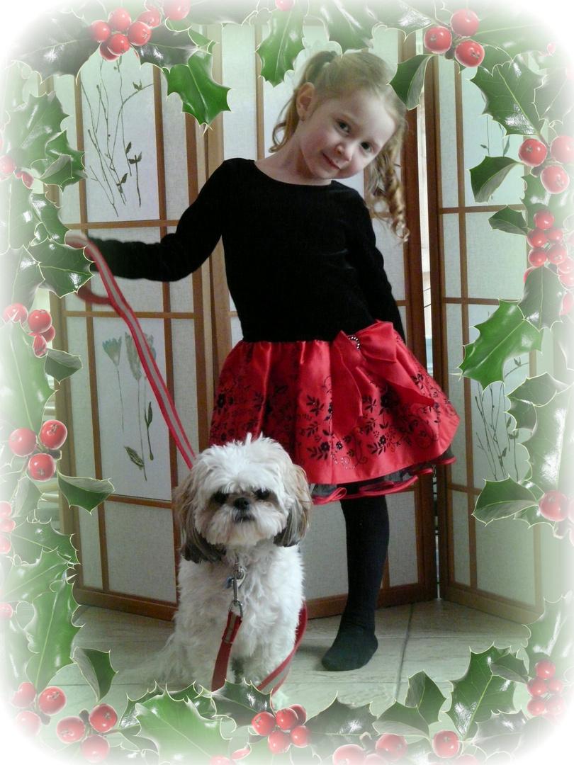 Abigaelle et Lili fêtent Noël 2010