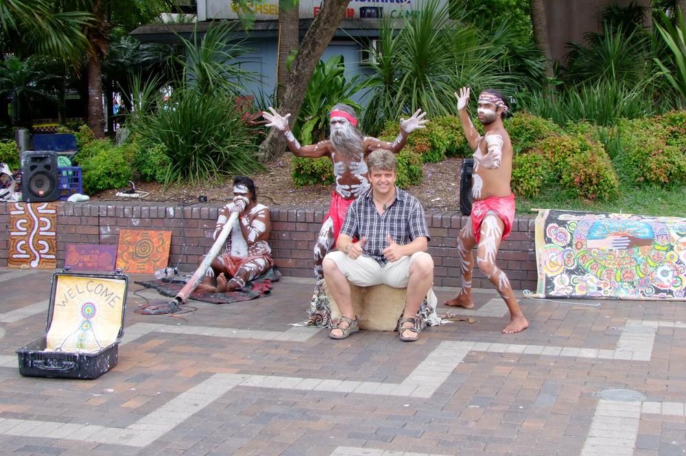 Aborigines im Hafen von Sydney
