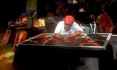 Aborigines  Künstler bei der Arbeit