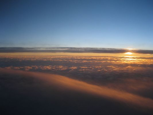 Above the clouds from an airplane :)