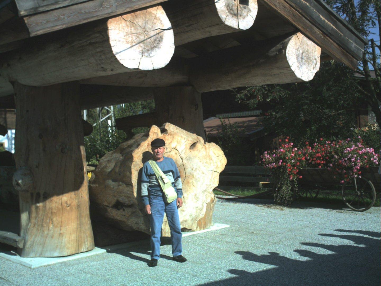 abrevoir au tyrol constuit en tronc d' arbres d attend de 300ans