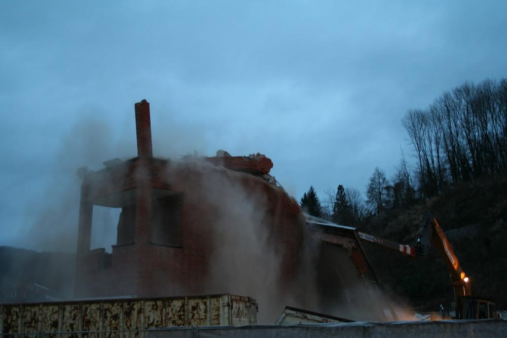 Abriss des Alten Schlauchturms
