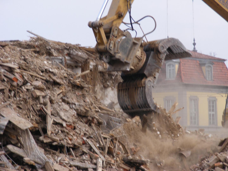 Abriss des Winterpalais in Gotha