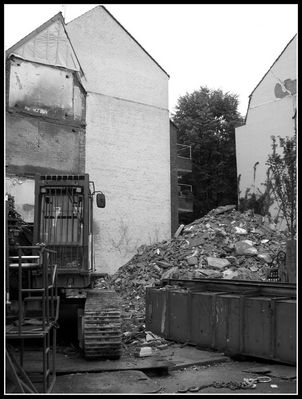Abriss in Düsseldorf-Oberkassel
