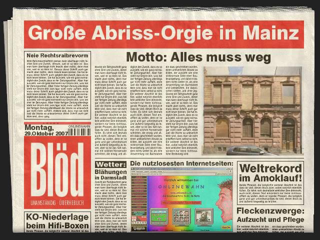 Abriss-Orgie