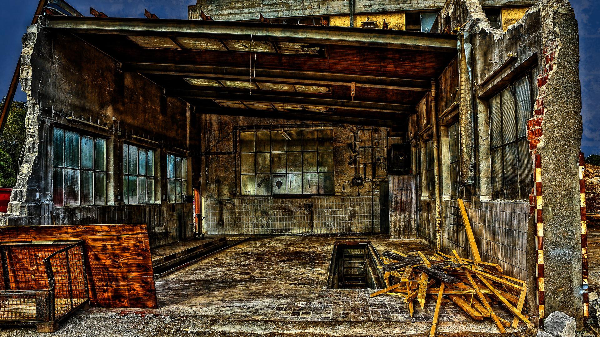 Abriss Werkstatt