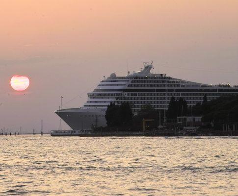Abschied am Abend von Venedig