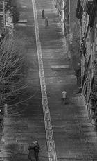Abschied auf der Treppe