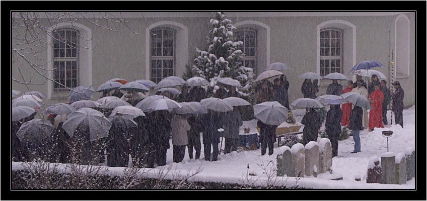 Abschied im Schneegestöber