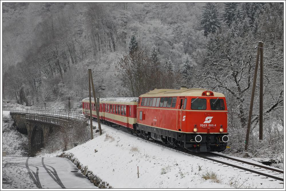 Abschiedsfahrt auf der Donauuferbahn