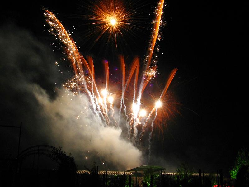 Abschlussfeuerwerk der Kirmes 2005