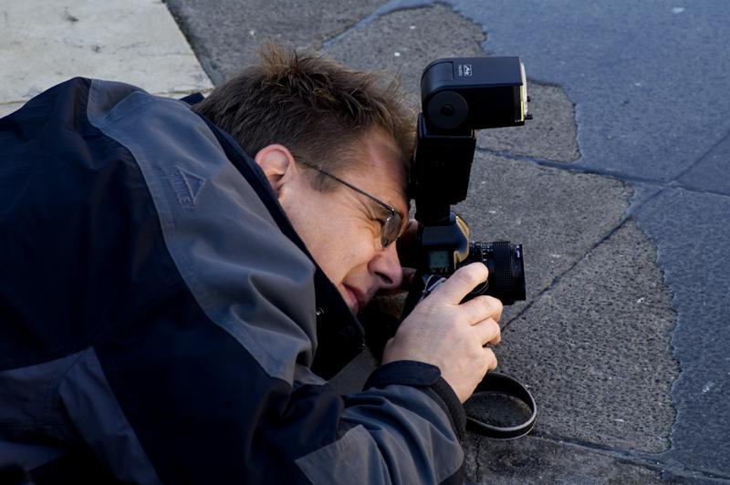 Absoluter Einsatz eines Fotografen