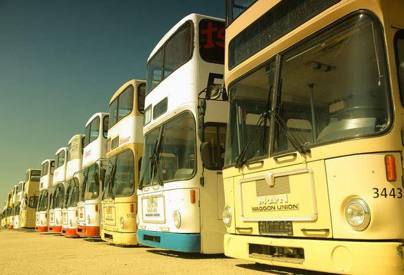 Abstellgleis für Busse