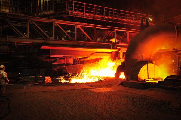 Abstich Hochofen 8 Thyssen Krupp Steel Duisburg