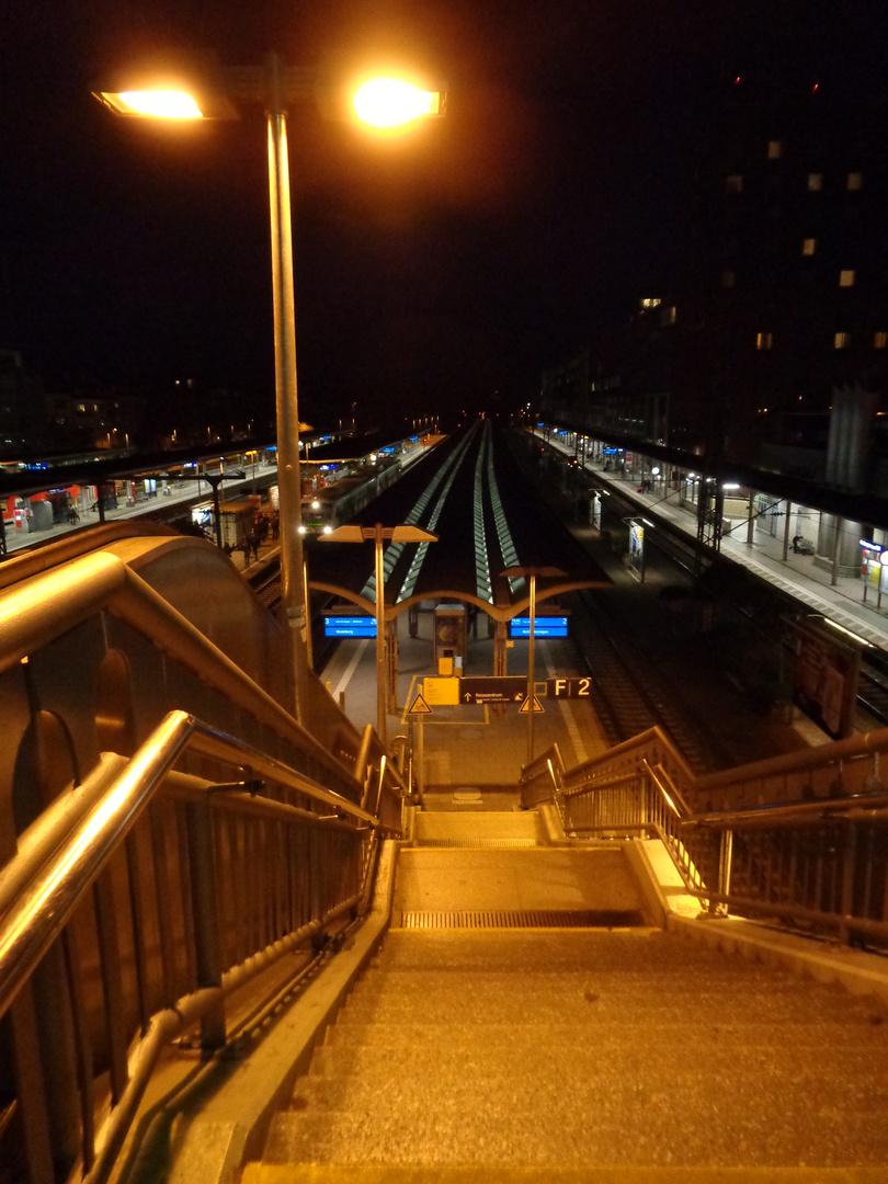Abstieg auf Gleis 3