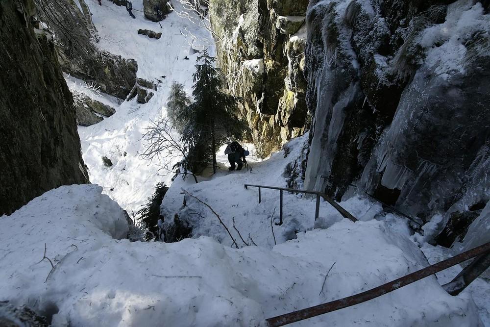 Abstieg in die Hirschfelsen in den Hochvogesen