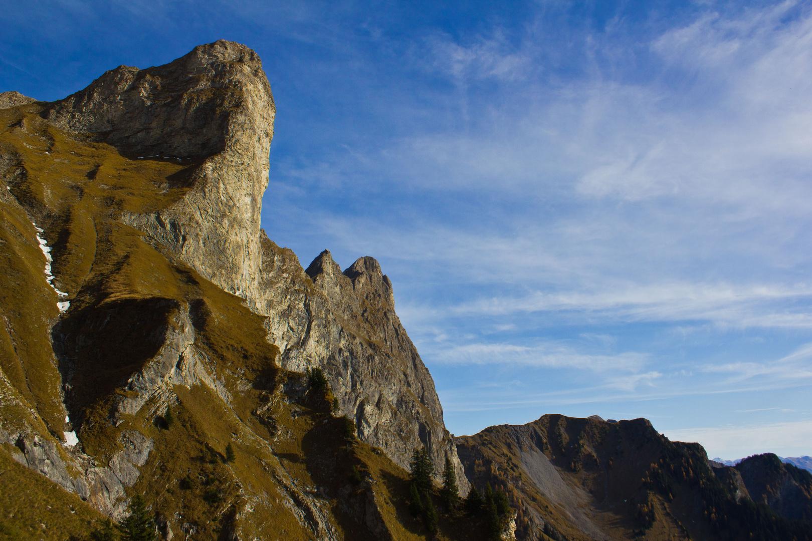Abstieg vom Falknis