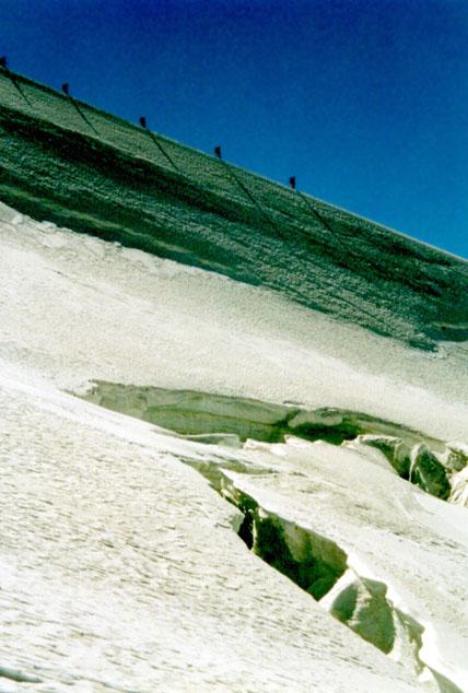 Abstieg vom Gran Paradiso (Italien)