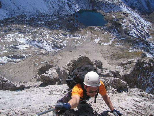 Abstieg von der Großen Sandspitze (2.772 m) über den Gebirgsjägerklettersteig