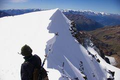 Abstieg von der Weißkugel (Palla Bianca, 3.739 m)
