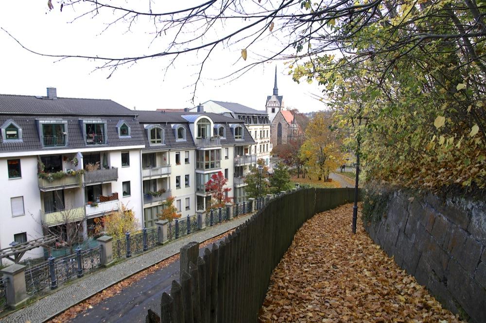 Abstieg von Schloß Osterstein Gera
