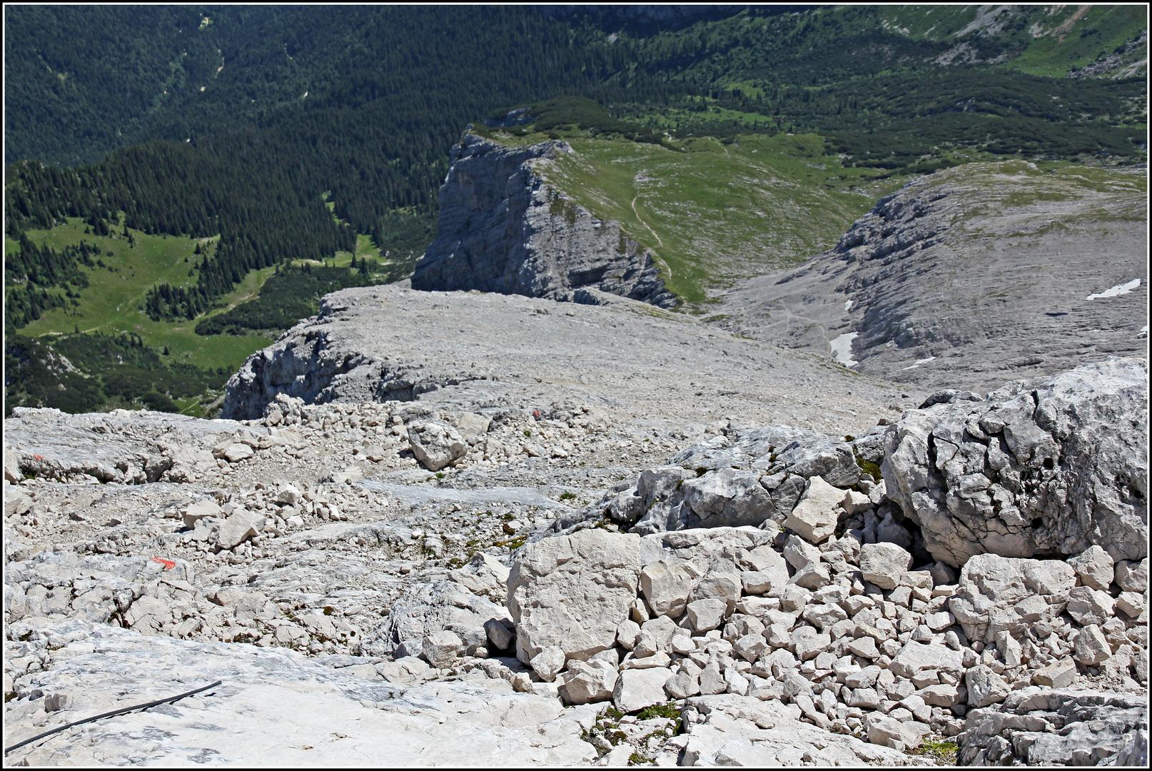 Abstiegsweg von der Alpspitze