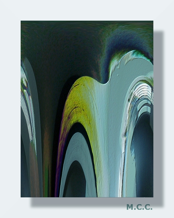 Abstracción en colores fríos.