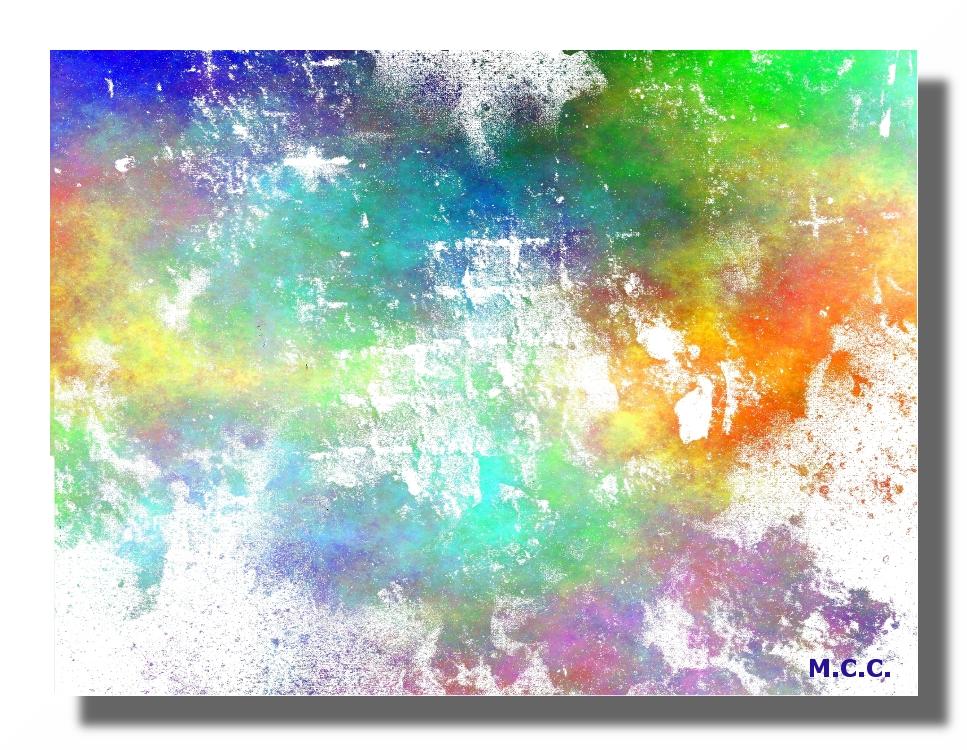 Abstracción en colores primaverales.