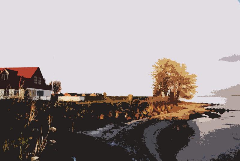 Abstrakte dänische Landschaft