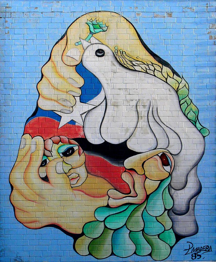 Abstrakte Wand-Malerei