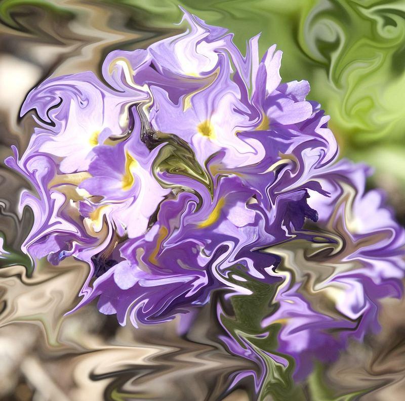 Abstraktion einer Blume mit Liquidfilter