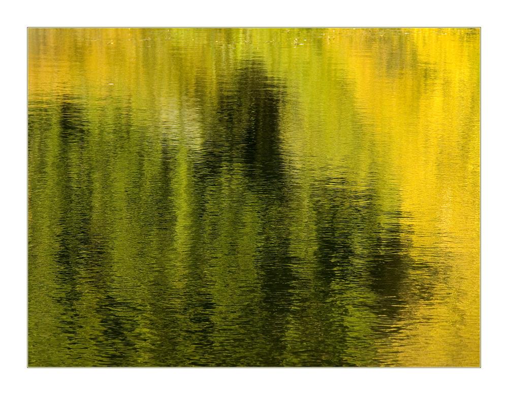 Abstraktion in Grün und Gelb... - oder: Zeitenwende...