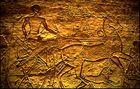 Abu Simbel - Hethiter-Krieger mit Streitwagen und Löwen
