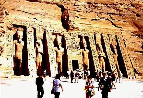 Abu Simbel - Portal des Hator-Tempels