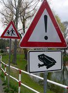 Achtung Kröten und Kinder