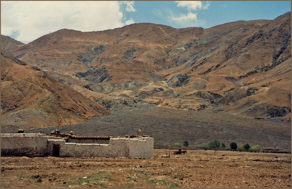 Ackerbau auf kargem Boden, Überland Tibet