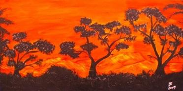 Acryl auf Leinwand, 100x50cm selber gemalt,3