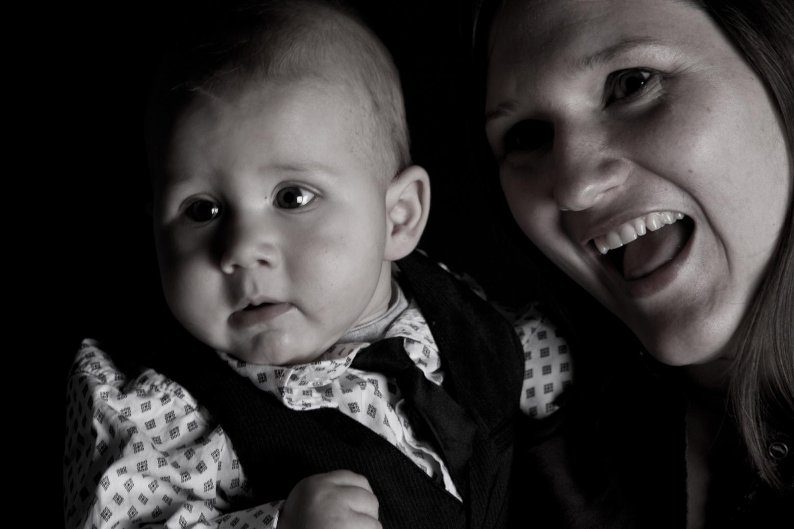 Action beim Babyshooting