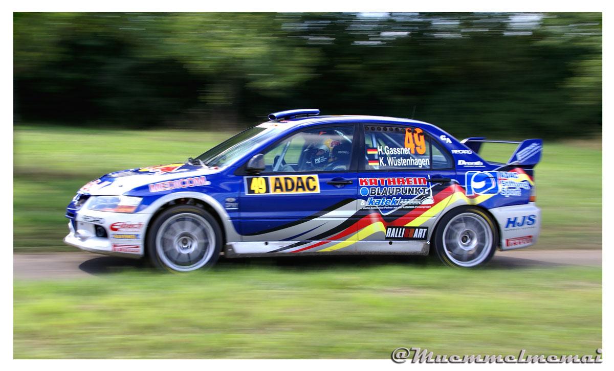 ADAC Rallye Deutschland Hermann Gassner Junior in Fahrt