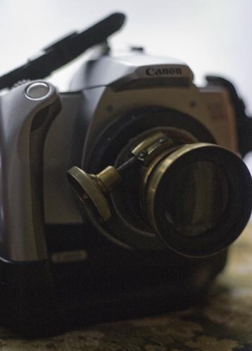 Adaptierung Altobjektiv an Canon II