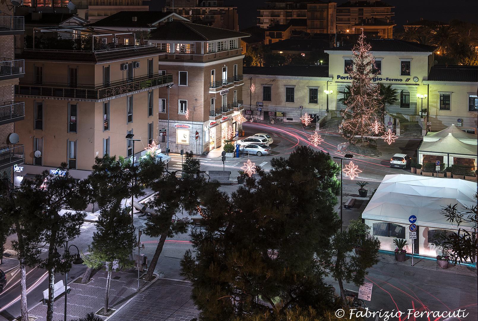 Addobbi natalizi a Porto San Giorgio