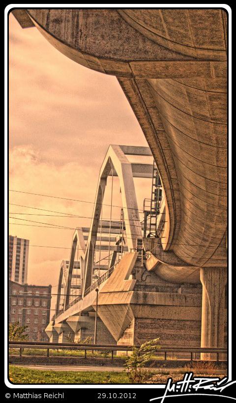 Adenauerbrücke Mannheim Ludwigshafen